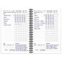 Workout Log Book and Fitness Journal 5.5 x 8.5""