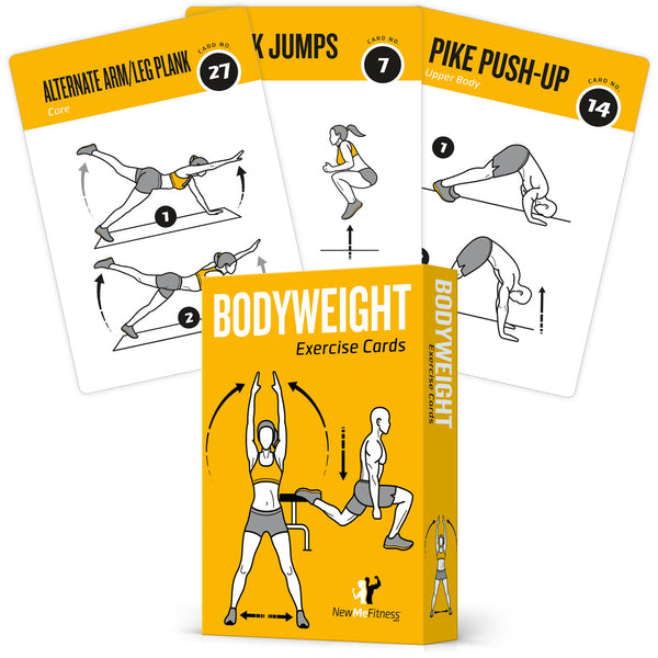 "Bodyweight Exercise Cards - Plastic - 3.5""x 5.5"""