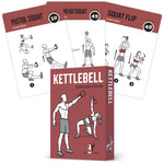"Kettlebell Exercise Cards - Plastic - 3.5""x 5.5"""