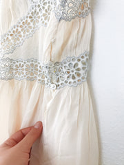 Vintage Peachy Chiffon Dress