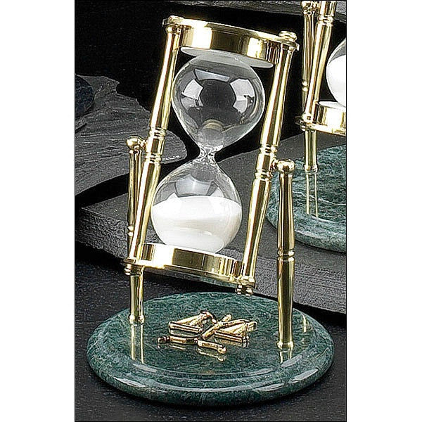 Green Marble and Brass Hourglass Legal image