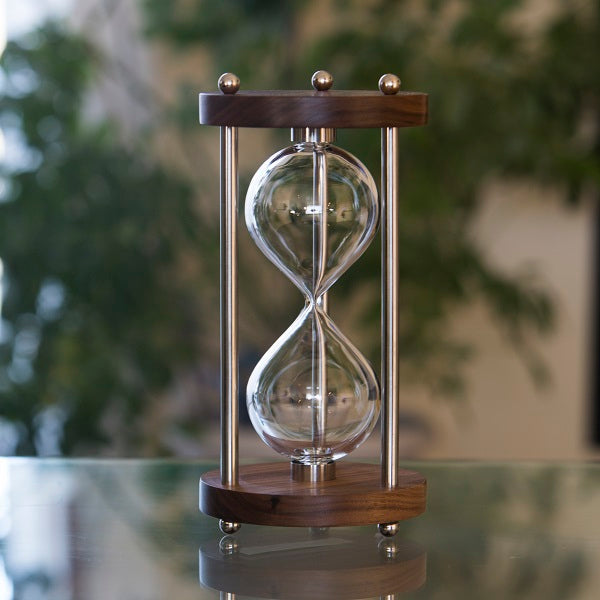 Solid Walnut Hourglass Kit With Metal Spindles