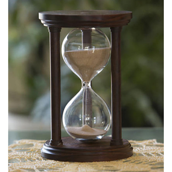 Solid Granadillo Wood Hourglass With Smooth Spindles