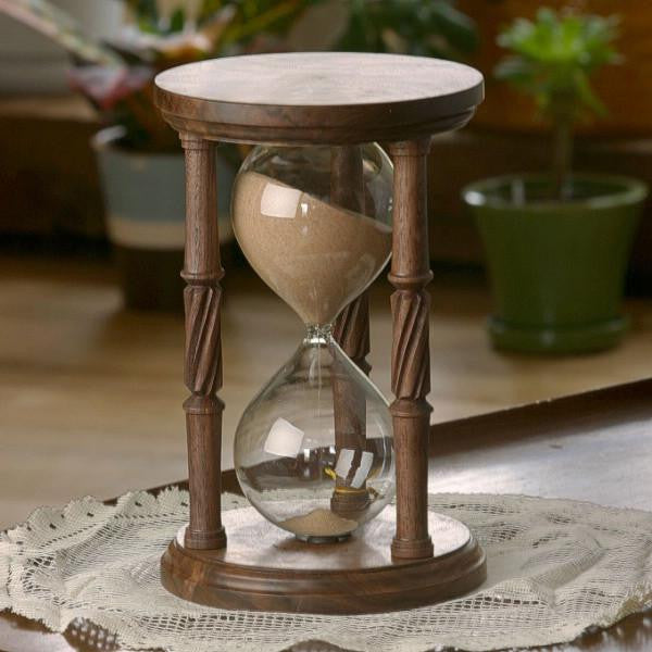 Solid Walnut Hourglass Urn