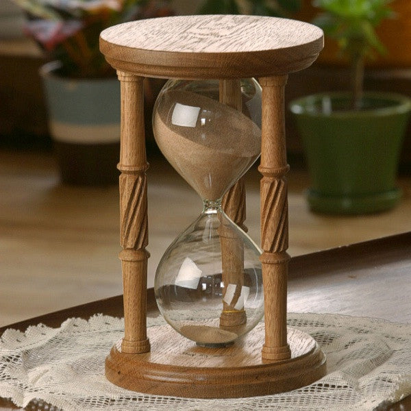 Solid White Oak Hourglass With Spiral Spindles