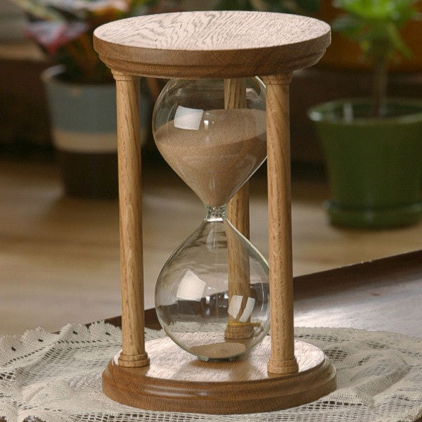 Solid White Oak Hourglass With Smooth Spindles
