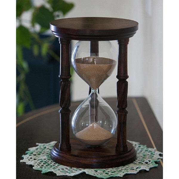 Solid Granadillo Wood Hourglass With Spiral Spindles