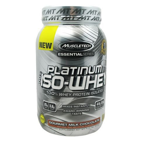 MuscleTech Essential Series 100% Platinum Iso-Whey Protein 1.79lbs - AdvantageSupplements.com