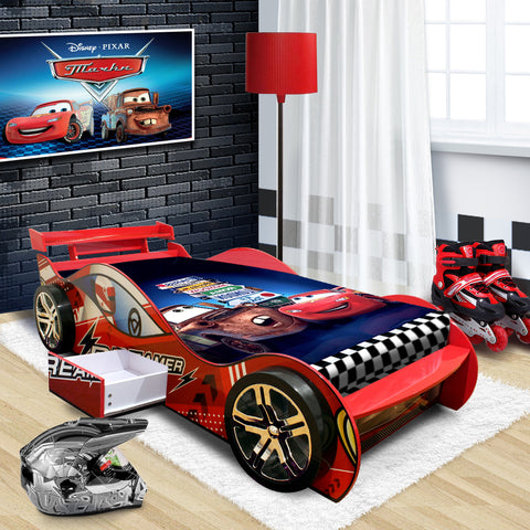 "2018 ""Dreamer"" Children Toddler Kids Racing Racer Car Bed For Boy Boys in Red"