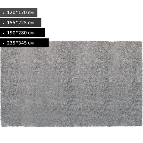 Light Grey  Modern Shag Non Shed Rugs