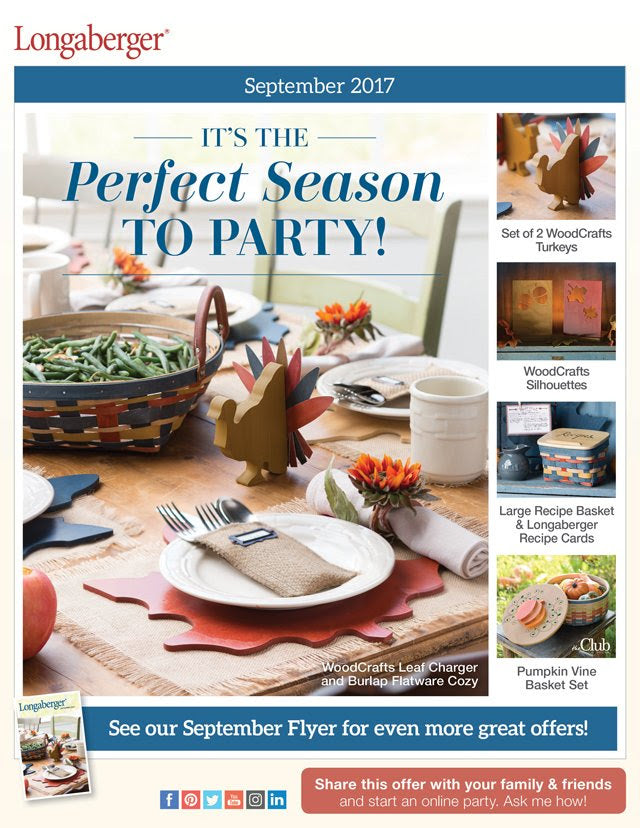 Longaberger September Flyer - New Fall/Winter Wishlist