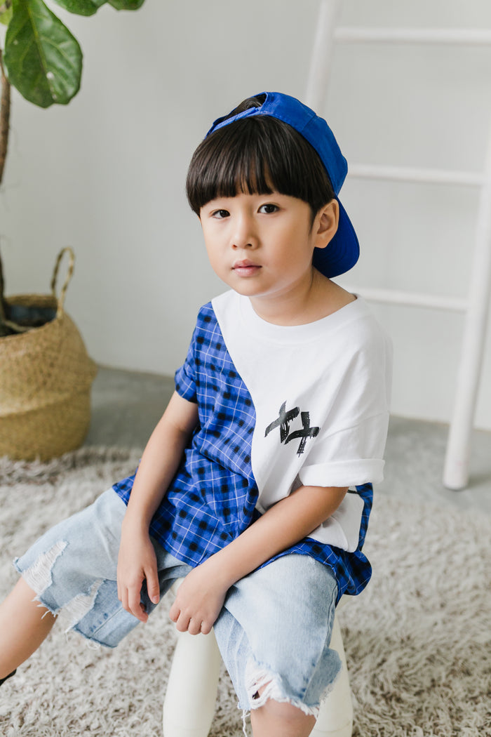 Ryan Look (MacKenzie T-shirt Blue + Back Label Denim Pants)