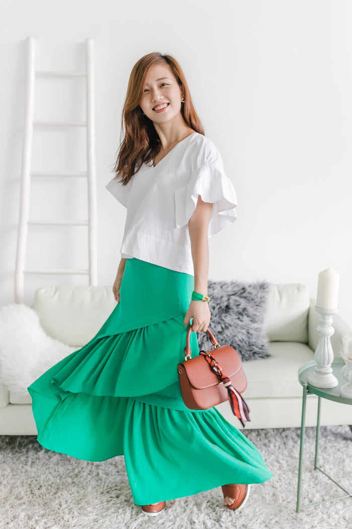 [5th RESTOCK] 3 Layered Skirt Green
