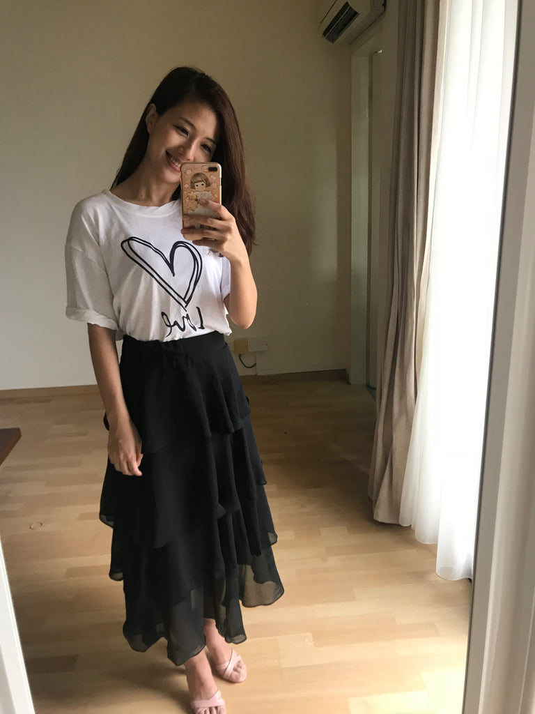 Kang Kang Skirt (Black/White) (Woman/ Kid)