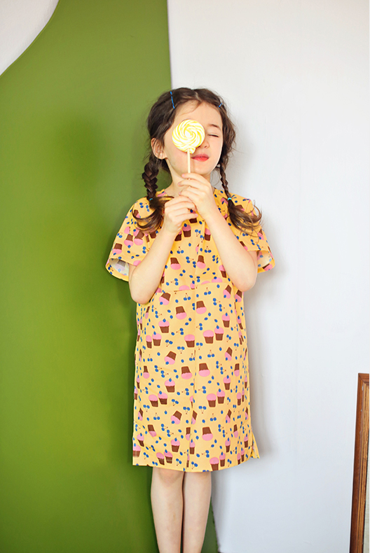[PREORDER] Cupcake Dress (Yellow/ Beige)