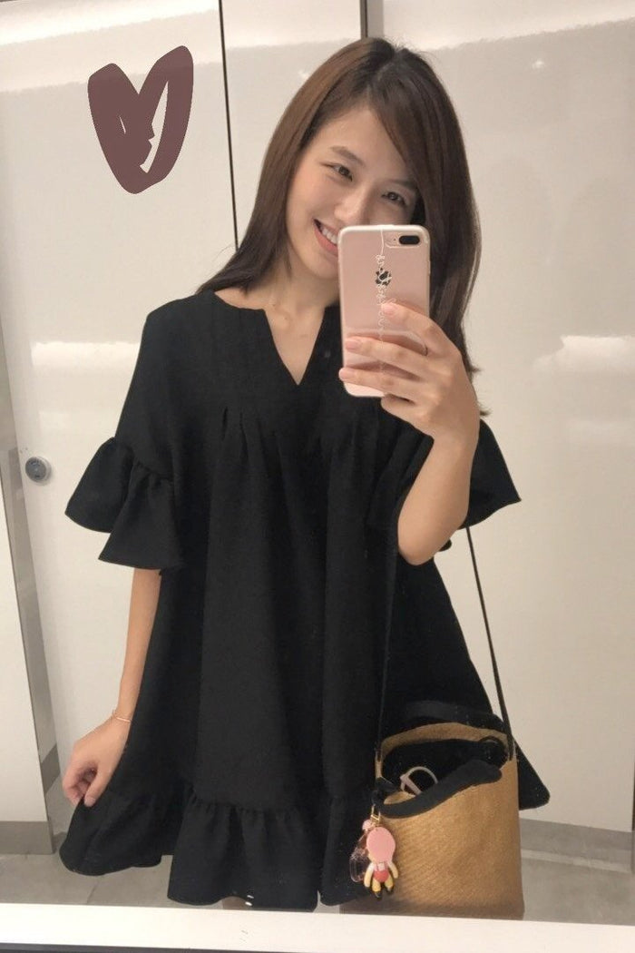 [8th Restock] Tunic Top Black