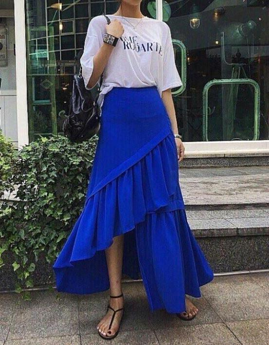[4th RESTOCK] 3 Layered Skirt Blue