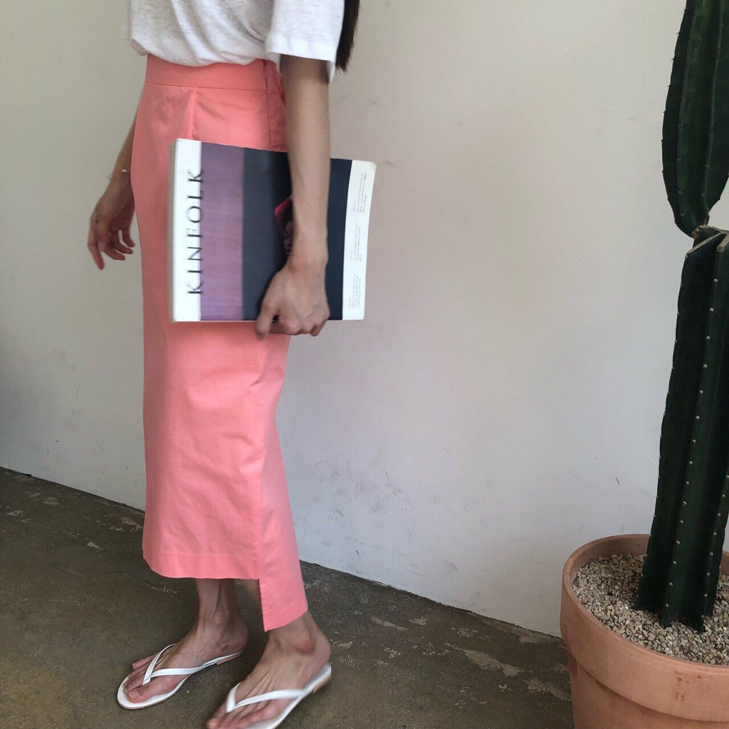 Pencil Skirt (Coral/ White/ Black)