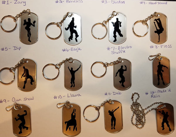 Floss like a boss party favors - Set of 8 keychains, zipper pulls or necklaces!
