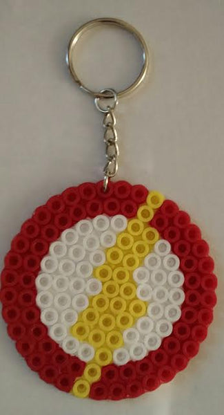 The Flash party favors! Set of 2 keychains or zipper pulls