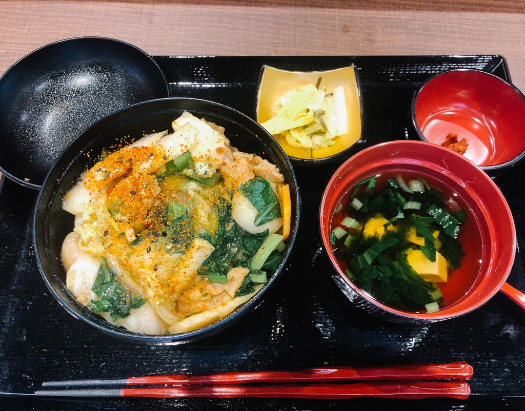 vegan meal at OKA - DON BURI NANTOYA AIRPORT naha airport