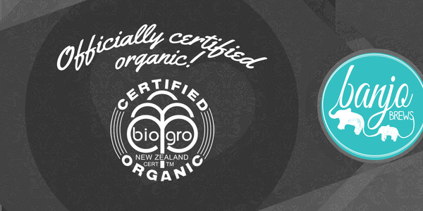 We've been Certified Organic!