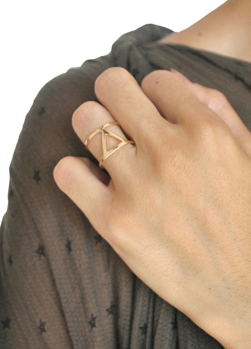 Tristan Gold Cutout Ring