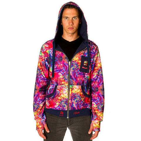 Men's Reversible Hoodie - Abstract