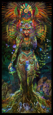 Gaia the Earth Goddess Tapestry (Elemental Series)