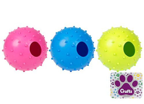 Crufts Large 9cm Dog Treat Ball