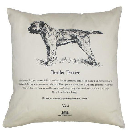 Border Terrier Cushion - Crufts and Kennel Club Gifts