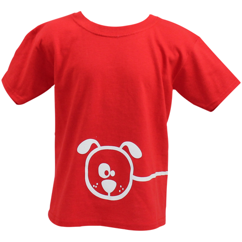 Children's Red Dog Cartoon T-shirt - Crufts and Kennel Club Gifts