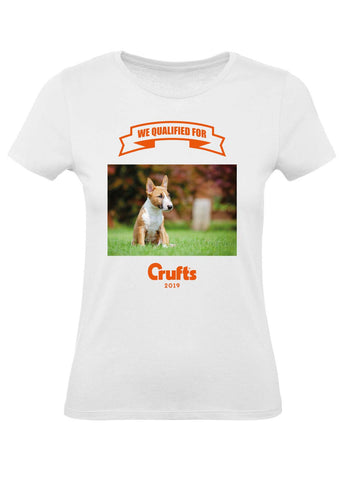 2019 We Qualified For Crufts Ladies Personalised T-Shirt