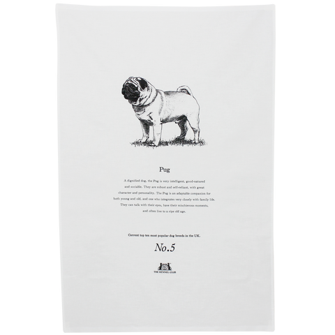 Pug Tea Towel - Crufts and Kennel Club Gifts
