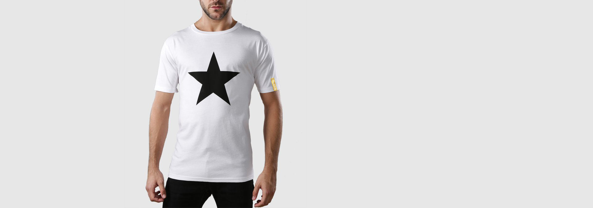 Black Star Organic Cotton T-Shirt White