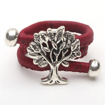 Cork Tree of Life Ring Set 10 Assorted - Issara Fairtrade
