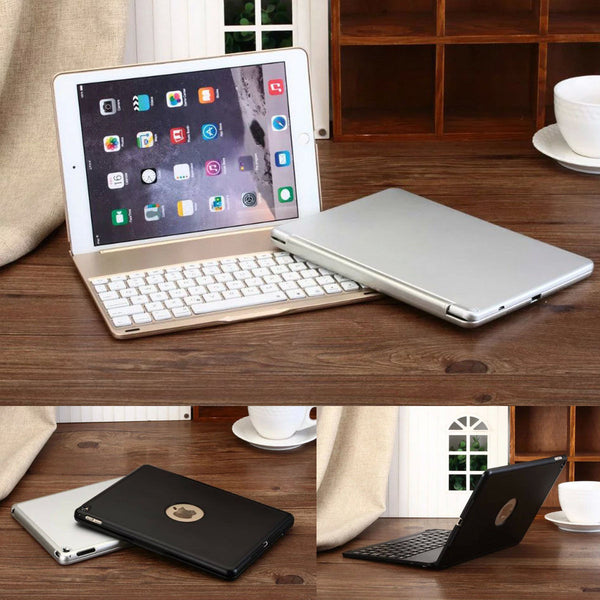 Aluminum Backlight Backlit Bluetooth Keyboard Cover Case For iPad Air 2