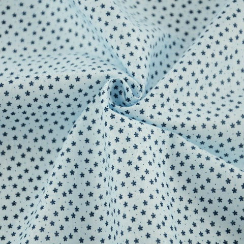 Light Blue with Flowers - PREMIUM Sewing Fabric