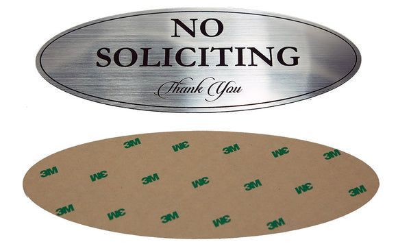 "Oval ""No Soliciting"" Sign"