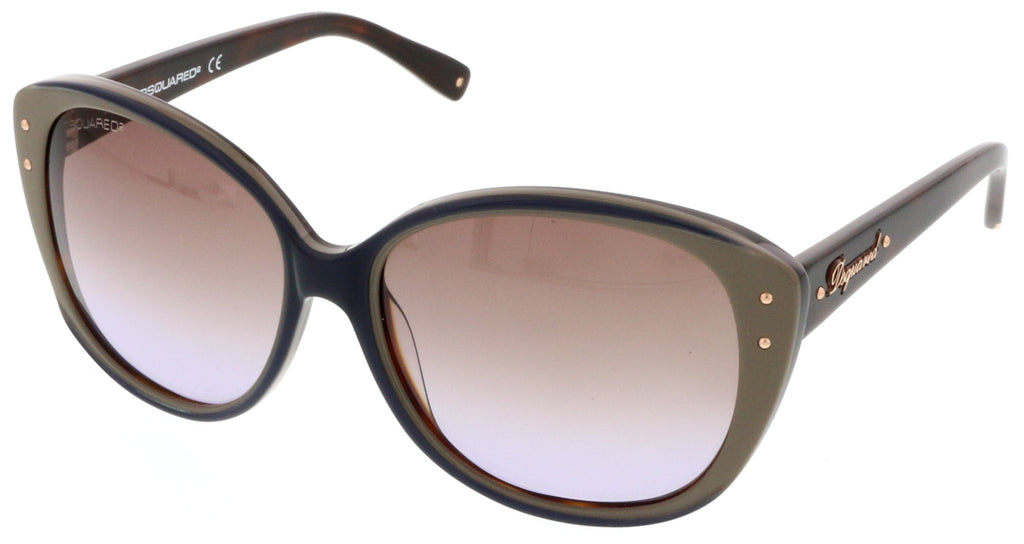 Dsquared  Taupe Round Sunglasses