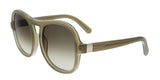 Chloe  Khaki Gradient Square Sunglasses