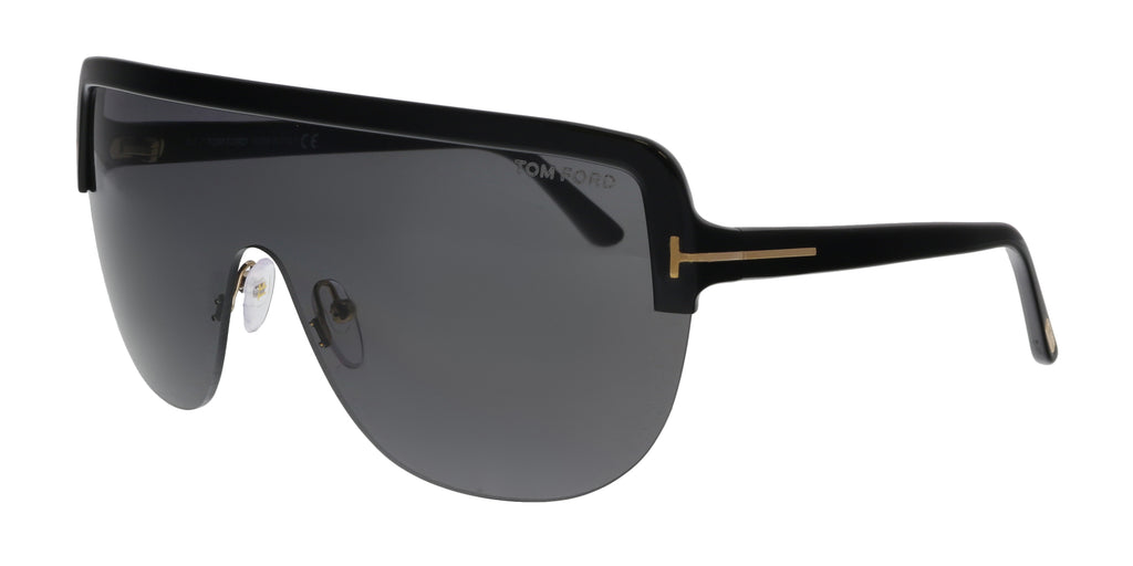 Tom Ford  Angus-02 Black Oversized Sunglasses