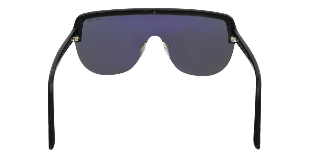 Tom Ford FT0560 01A Angus-02 Black Oversized Sunglasses