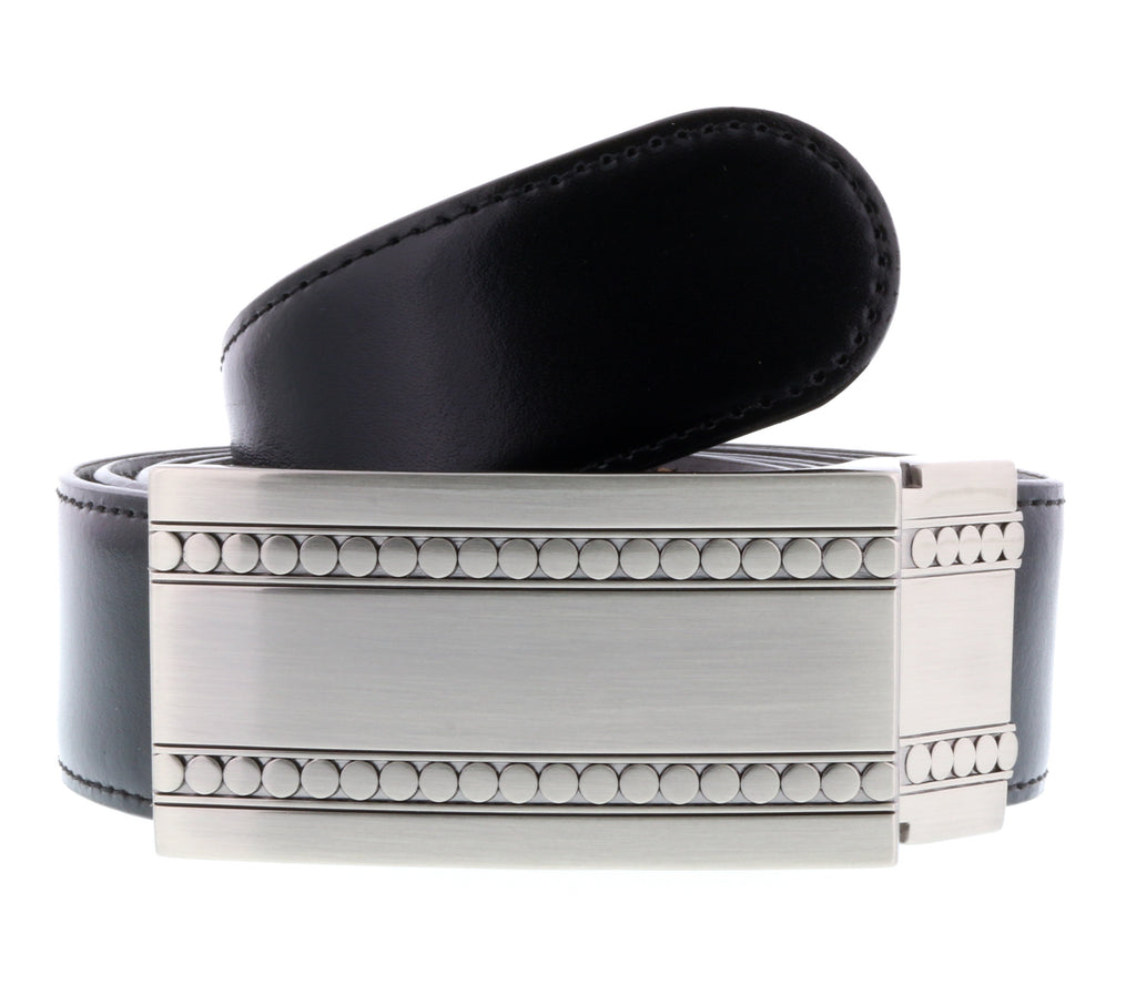 HS Collection HSB 6099  Black/Brown Reversible/Adjustable Mens Belt