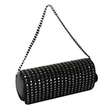 Secret Pon-Pon  Black Rhinestone Clutch