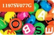 Alphabet Beads 10mm Neon Multi  #1197SV077G - Creative Wholesale