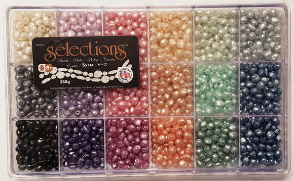 Bead Box Selections Giant Pastel Pearl Beads #6289 - Creative Wholesale