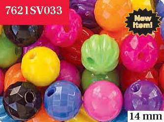 Bubble Bead 14mm Circus Kandy 7621SV033 - Creative Wholesale
