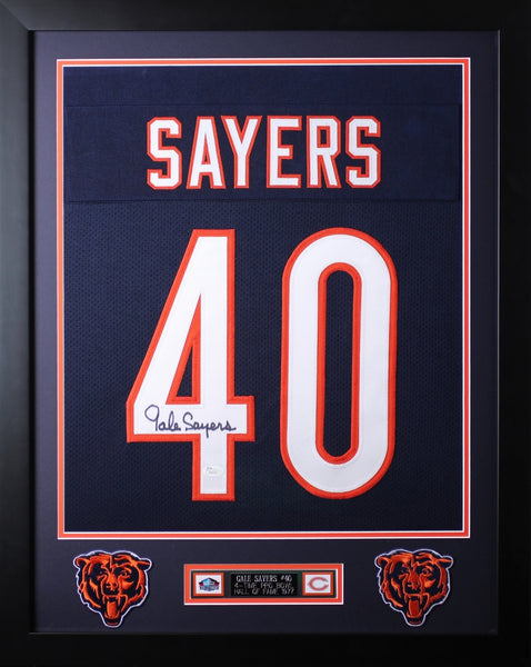 Gale Sayers Framed and Autographed Navy Bears Jersey JSA COA (D2-S)