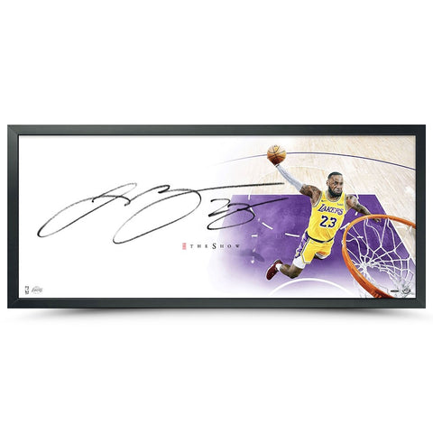 "LeBron James Los Angeles Lakers Framed Autographed 46"" x 20"" The Show Photograph"